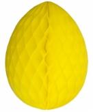 Gele papieren paasei 10 cm