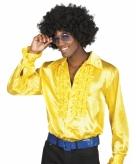 Gele rouche overhemd voor heren