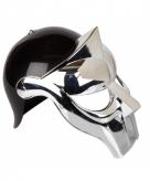 Gladiator helmen zwart zilver