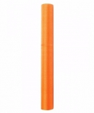 Glanzende oranje organza stof 36 cm