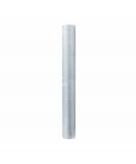 Glanzende zilveren organza stof 36 cm