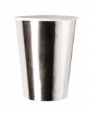 Glimmende zilveren cups 8 stuks