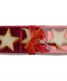 Glitter ster kaarsjes 3 stuks
