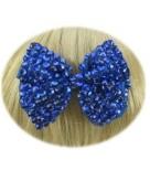 Glitter strik blauw