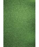 Glitterend groen hobby papier