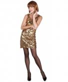 Goud disco jurkje met pailletten 10068951