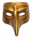 Goud venetiaans comedy masker