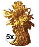 Gouden ballonnen gewichten 5 stuks