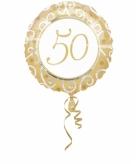 Gouden folie ballon 50 jaar