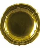 Gouden gourmet schaal 45 cm