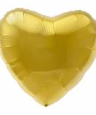 Gouden hart helium ballon