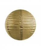 Gouden lampion rond 35 cm