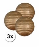Gouden lampionnen 25 cm 3 stuks