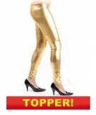 Gouden leggin dames