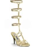 Gouden sandaal pumps voor dames
