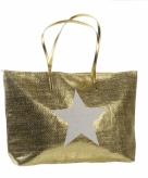 Gouden tas met ster 50 x 30 cm