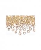 Gouden trouwdecoratie diamantjes
