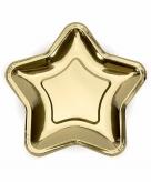 Gouden wegwerp borden ster 6x