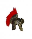 Goudkleurige romeinse helmen