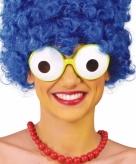 Grappige party bril met grote ogen