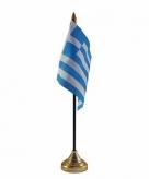 Griekenland versiering tafelvlag 10 x 15 cm