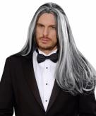 Grijs zwarte vampier pruik