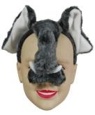 Grijze olifanten maskers op diadeem