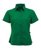 Groen gekleurd dames overhemd met korte mouwen