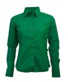 Groen gekleurd dames overhemd met lange mouwen