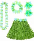 Groen hawaii kostuum set voor dames