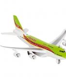 Groen model vliegtuig