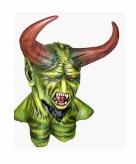 Groen monster masker met hoorns