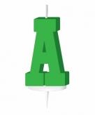 Groen taart kaarsje letter a