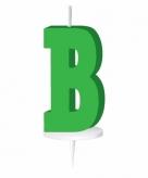 Groen taart kaarsje letter b