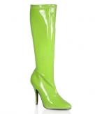 Groene hoge dames laarzen