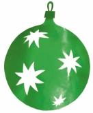 Groene kerstballen hangdecoratie 30 cm
