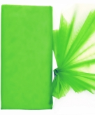 Groene organza stof op rol 150 x 300 cm