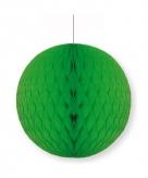 Groene papieren kerstbal 10 cm