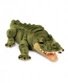 Groene pluche liggende alligator krokodil knuffel 66cm