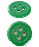 Groene verkleed knoop