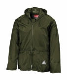 Groene waterdichte jas en broek voor volwassenen