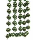 Groenkleurige kralen slinger 270 cm