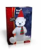 Grote kerstbeer opblaasbaar 120 cm