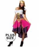 Grote maat compleet zigeunerin kostuum voor dames
