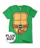 Grote maat fred ninja turtle shirt kostuum voor volwassenen