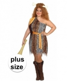 Grote maat holbewoner verkleedjurk voor dames