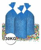 Grote zak confetti 30 kg gerecyclede kranten