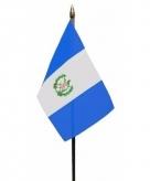 Guatemala vlaggetje polyester