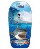 Haai surfer speelgoed bodyboard 83 cm