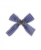 Haarstrikje met clip bayern blauw